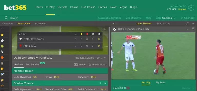 bet365 live futebol