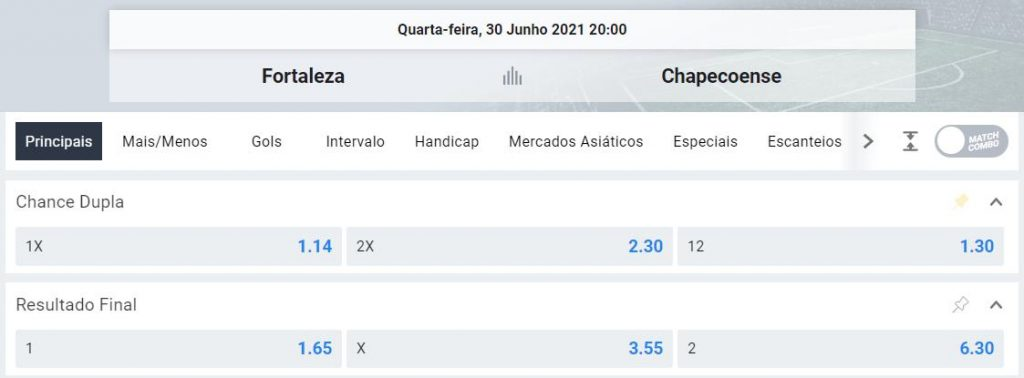 comparacao odds dupla chance